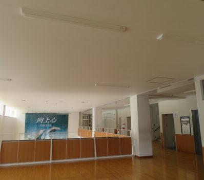 岡山市立中央中学校 廊下 広間