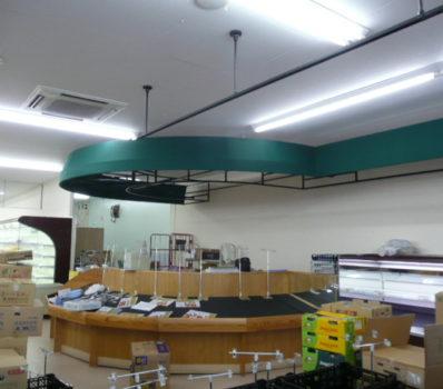 スーパーマーケット売り場テント